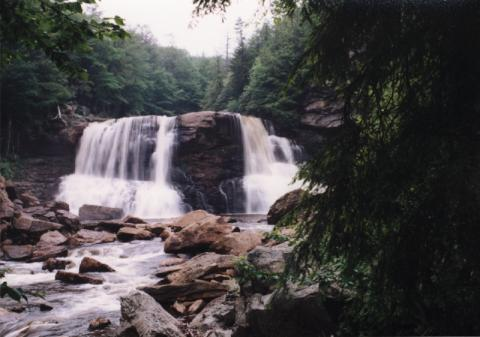 Blackwater Falls from the front in medium-high water
